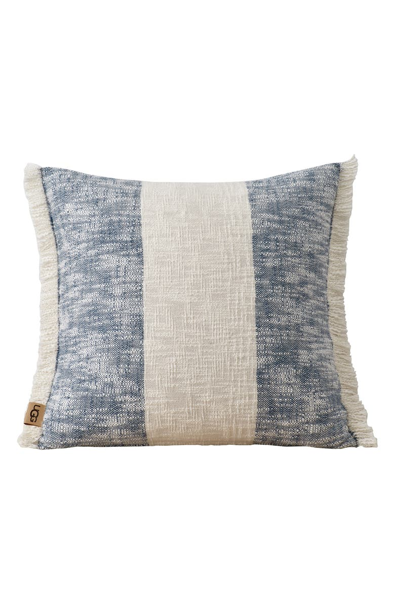 UGG<SUP>®</SUP> Finch Accent Pillow, Main, color, SNOW/ DENIM
