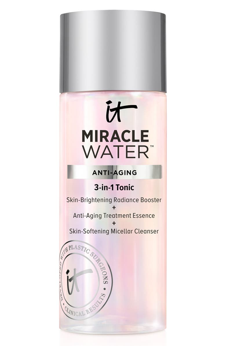 IT COSMETICS Miracle Water 3-in-1 Tonic Face Booster, Essence & Cleanser, Main, color, NO COLOR