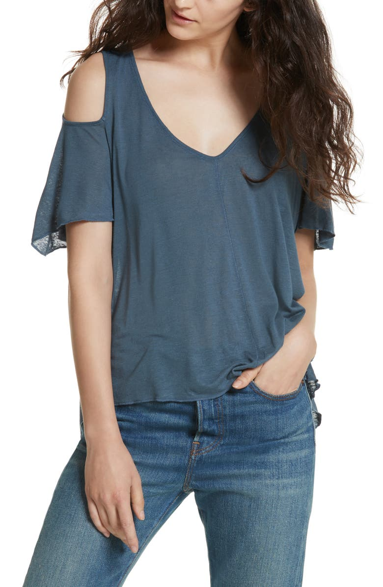 FREE PEOPLE Bittersweet Cold Shoulder Top, Main, color, 400