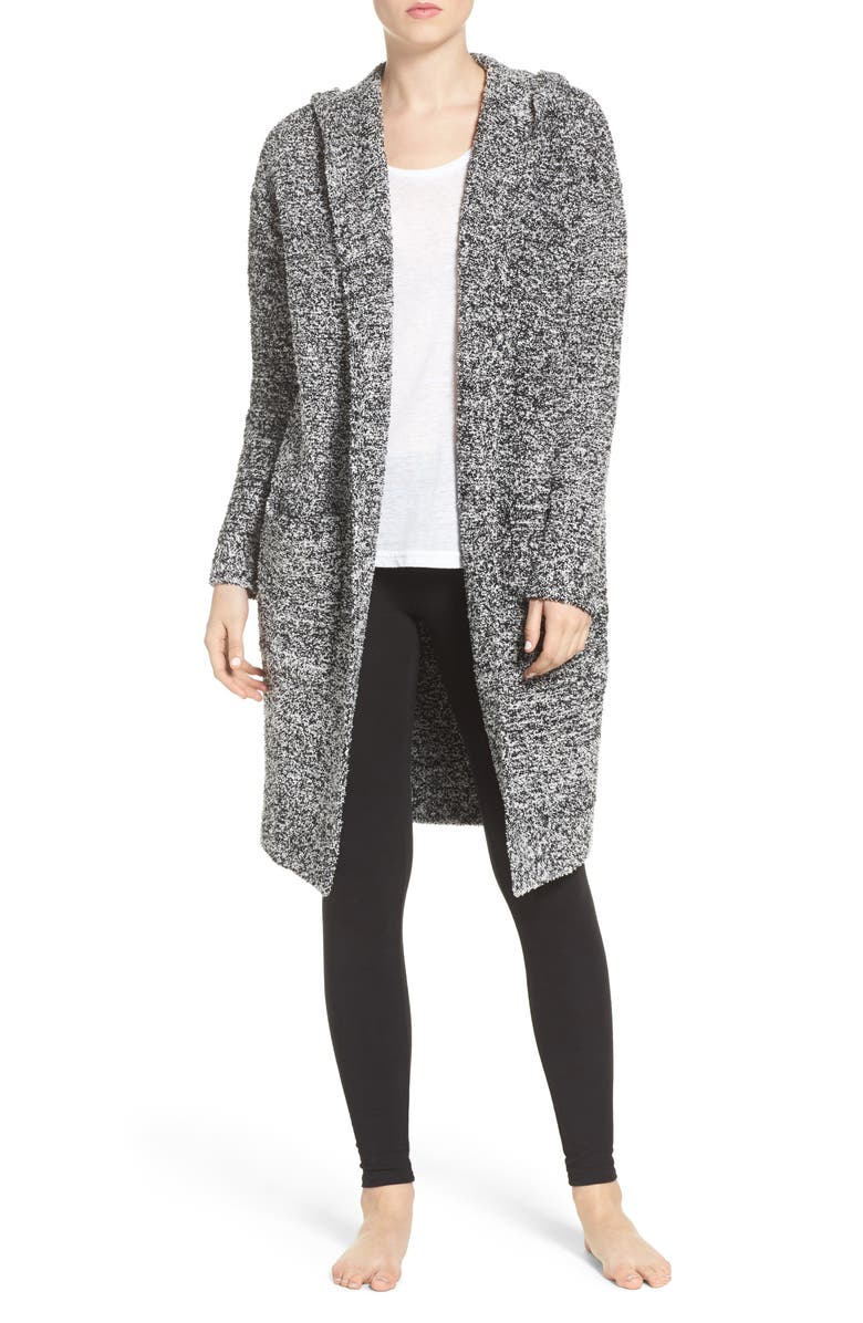 BAREFOOT DREAMS<SUP>®</SUP> CozyChic<sup>®</sup> California Lounge Coat, Main, color, BLACK/ WHITE