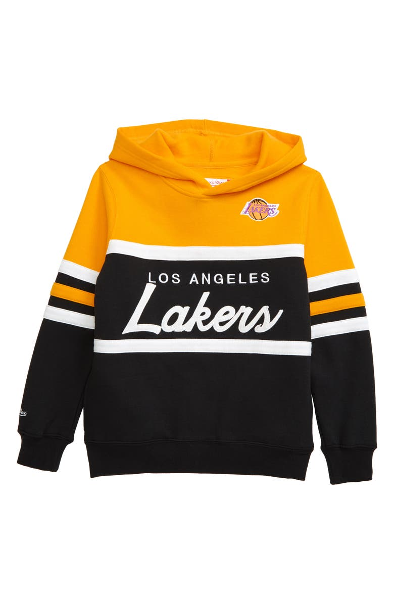 MITCHELL & NESS Los Angeles Lakers Head Coach Hoodie, Main, color, 700