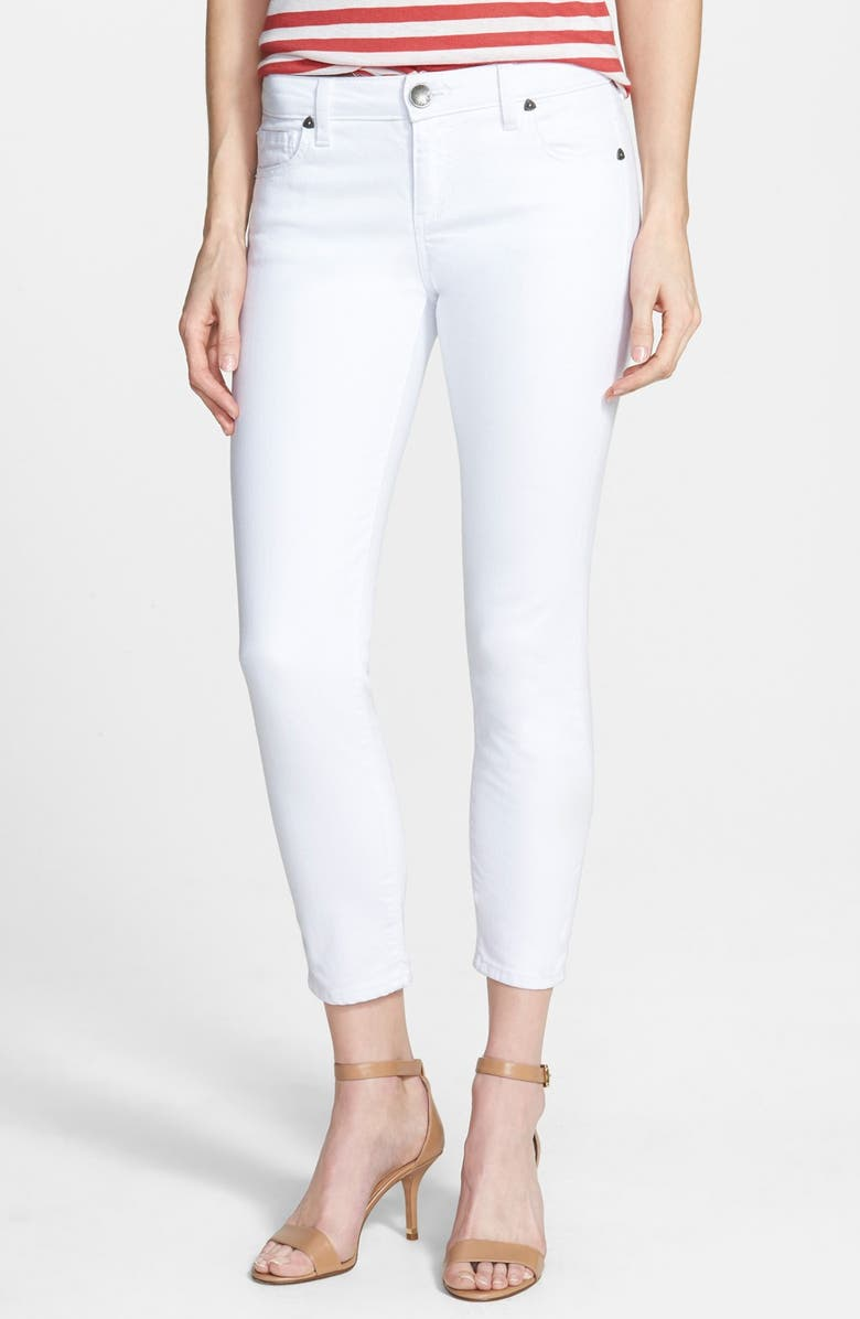 KUT FROM THE KLOTH Crop Skinny Jeans, Main, color, 100