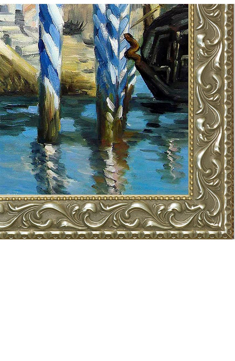 OVERSTOCK ART The Grand Canal, Venice by Edouard Manet Framed Hand Painted Oil on Canvas, Main, color, MULTI