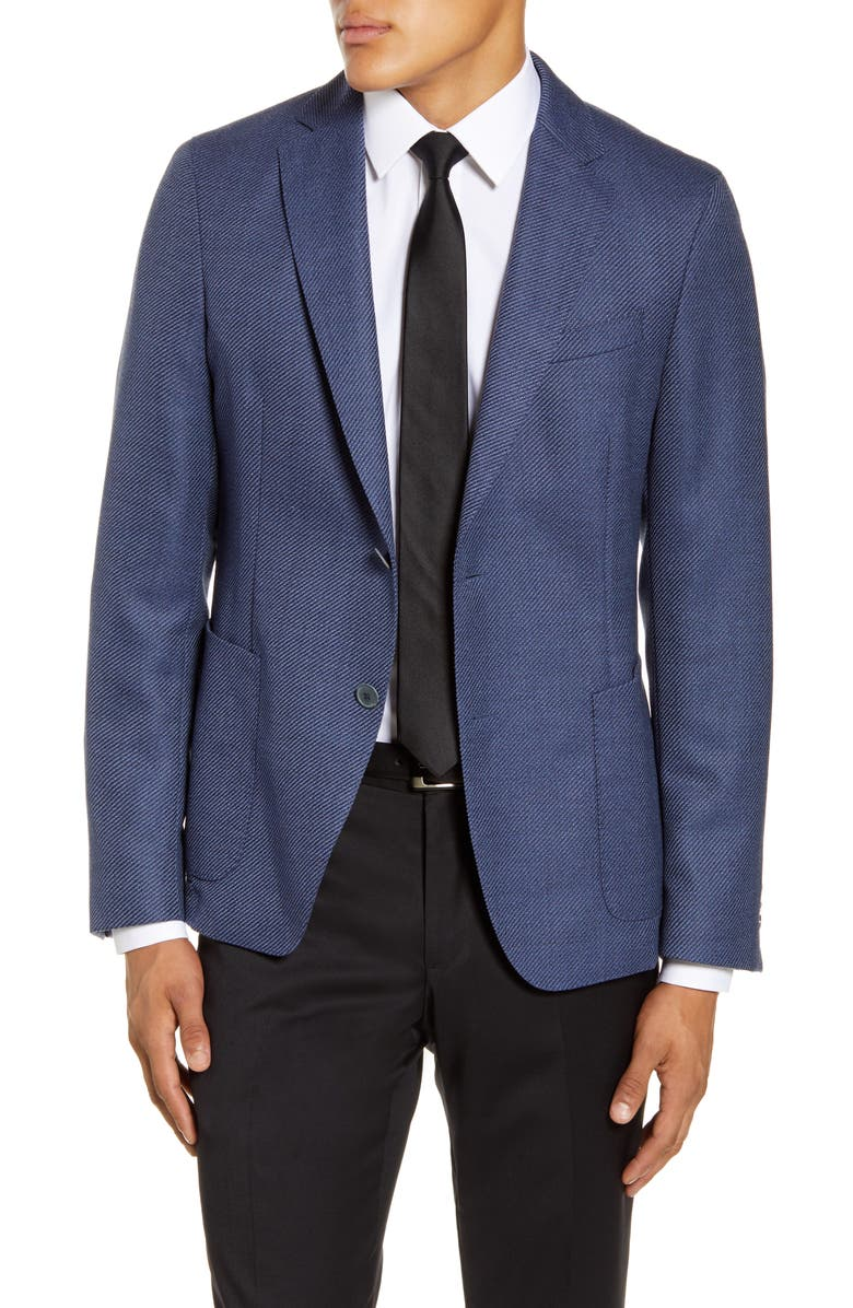 BOSS Nold Trim Fit Wool Sport Coat, Main, color, 417