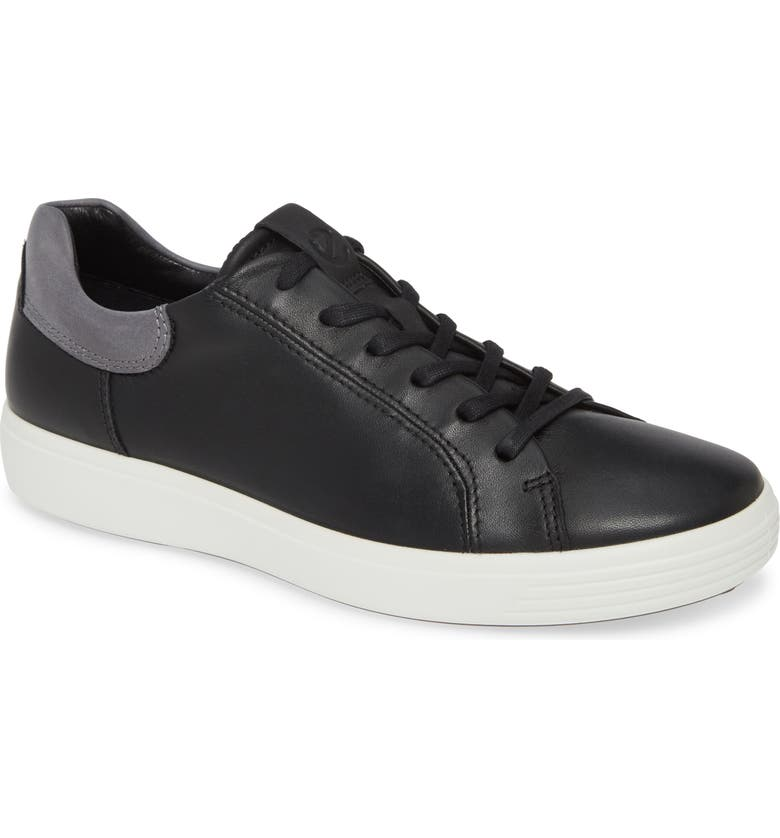 ECCO Soft 7 Sneaker, Main, color, BLACK/ TITANIUM