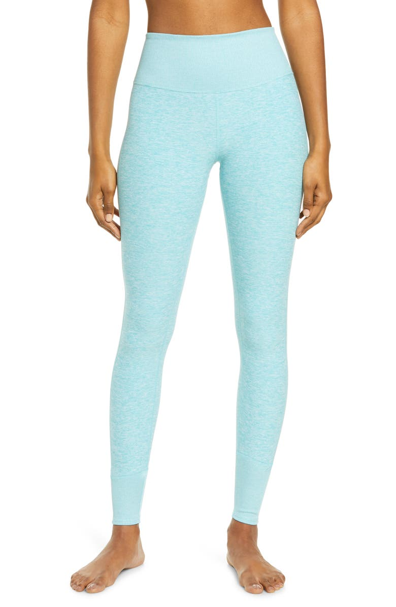 ALO High Waist Lounge Leggings, Main, color, BLUE QUARTZ HEATHER