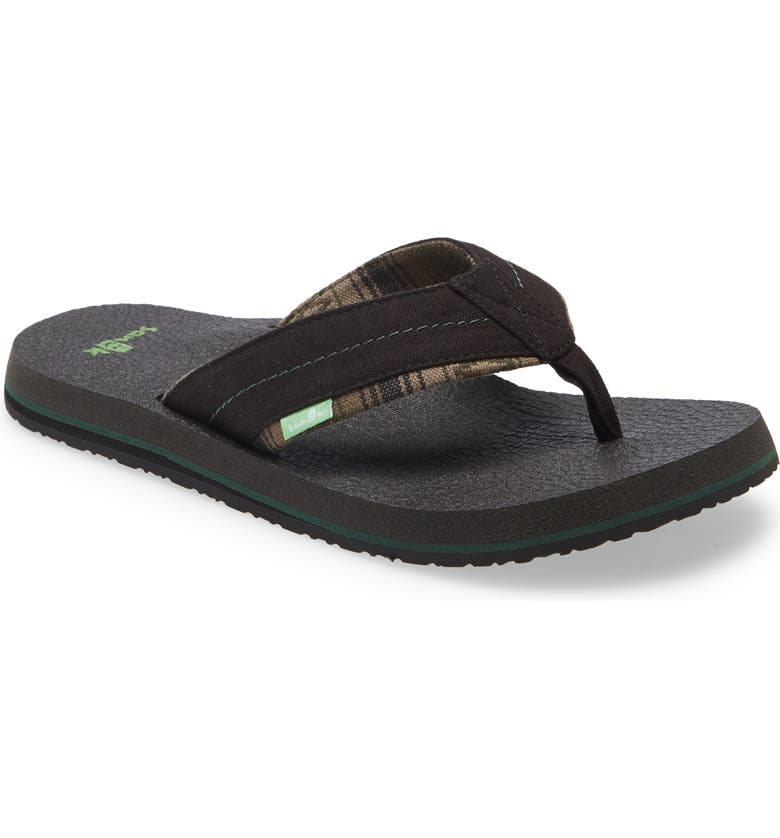 SANUK Bear Cozy TX Flip Flop, Main, color, 001