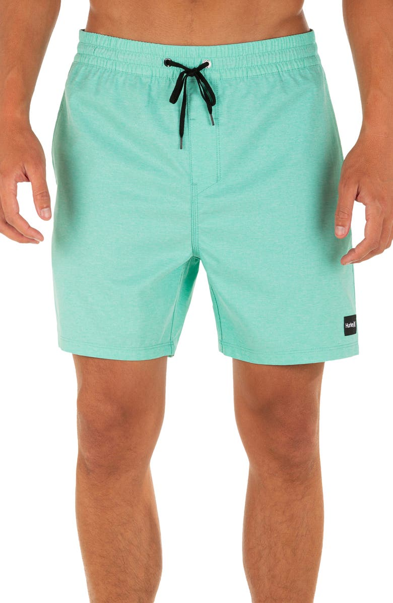 HURLEY One And Only Swim Trunks, Main, color, AURORA GREEN