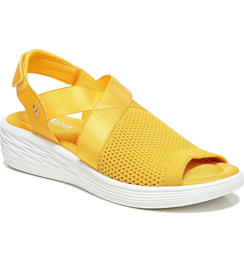 RYKA Nerissa Wedge Sandal - Wide Width Available, Main, color, GOLDEN ROD