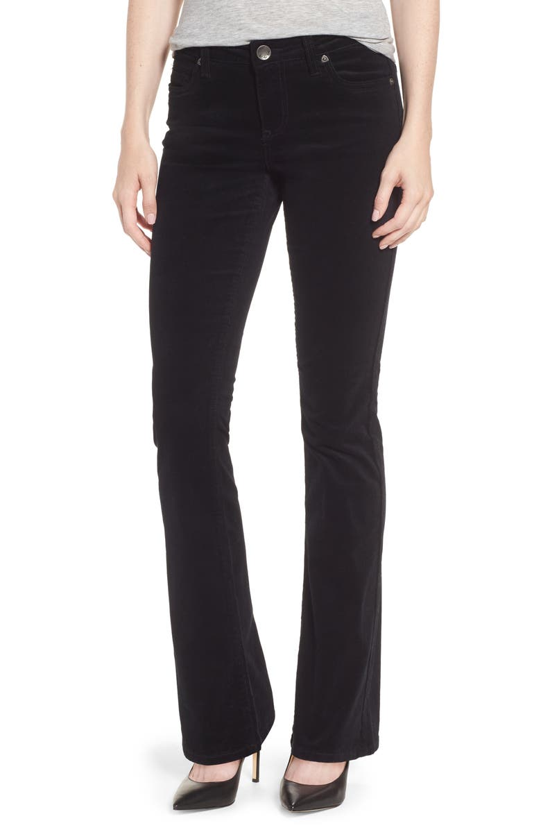 KUT FROM THE KLOTH Baby Bootcut Corduroy Jeans, Main, color, BLACK