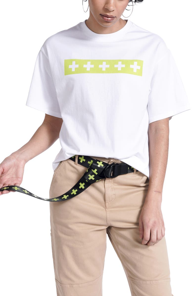 BP. + WILDFANG Boxy Graphic Tee, Main, color, WHITE SOMETHING ELSE