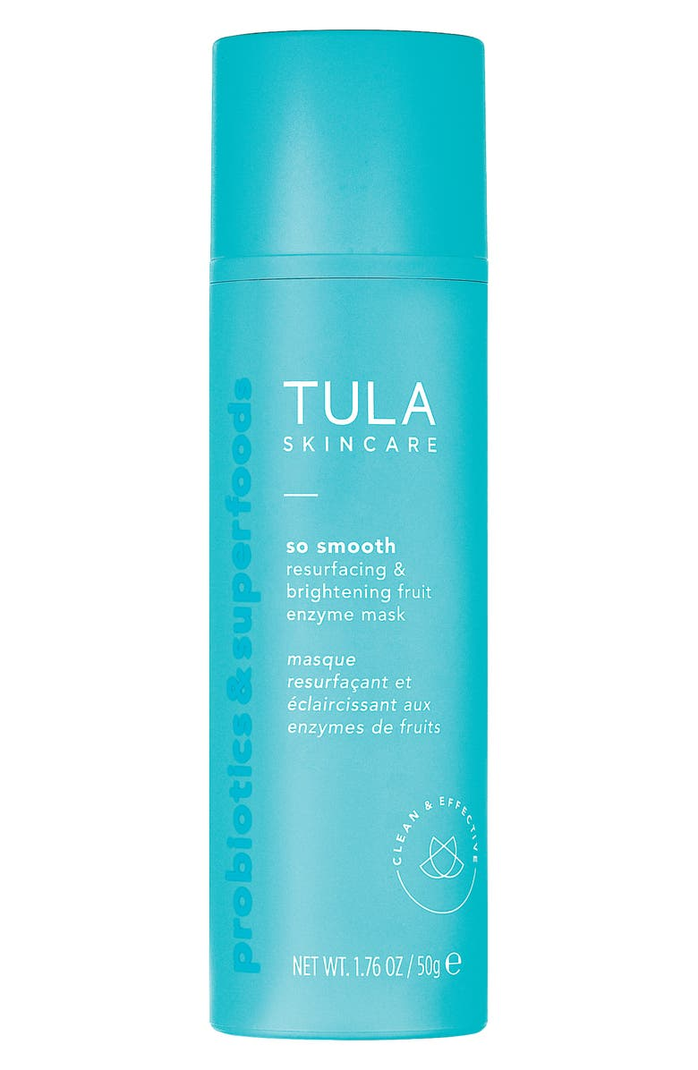 TULA SKINCARE So Smooth Resurfacing & Brightening Fruit Enzyme Mask, Main, color, NO COLOR