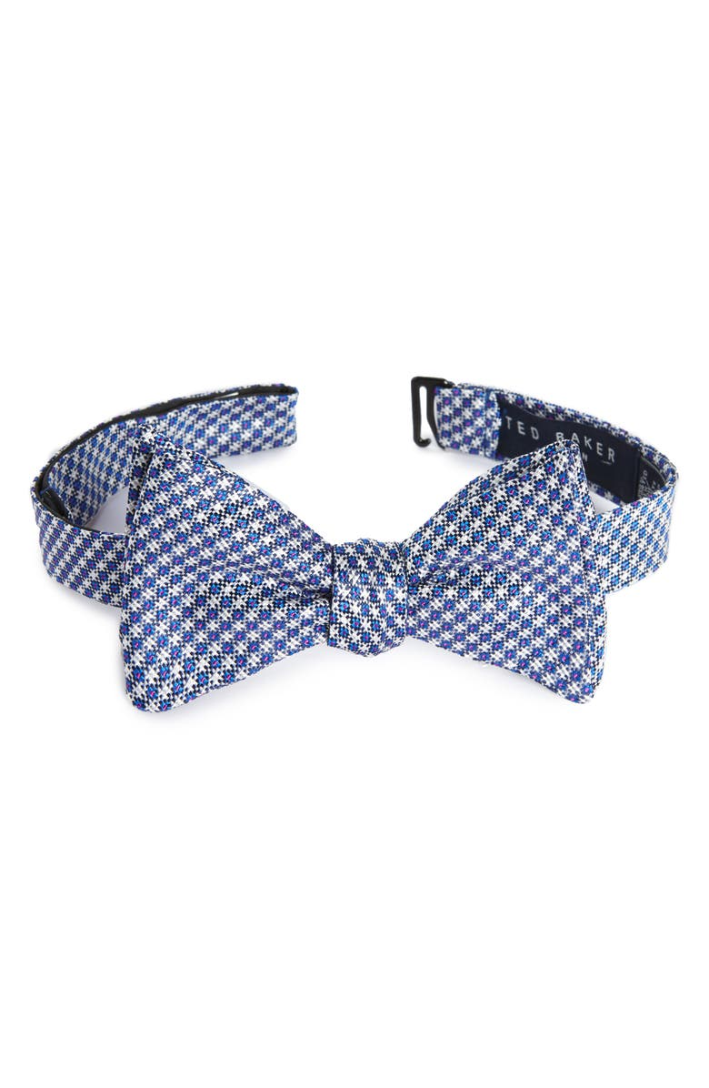 TED BAKER LONDON Houndstooth Silk Bow Tie, Main, color, 412
