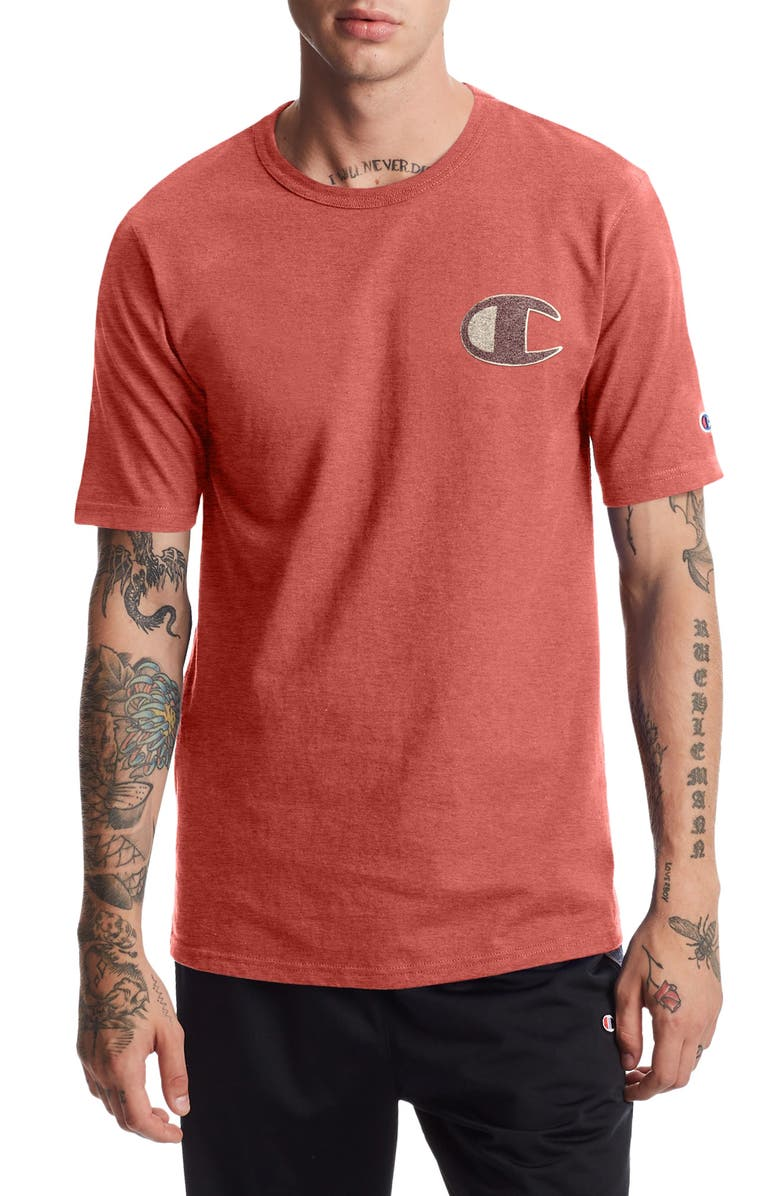 CHAMPION Heritage Graphic Tee, Main, color, PICANTE PINK