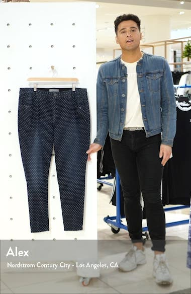 Ab-Solution Dot Pattern Ankle Skinny Jeans, sales video thumbnail