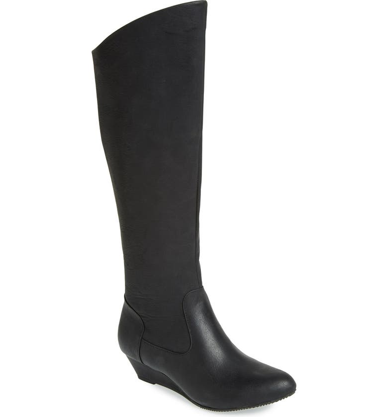 BC FOOTWEAR 'Try To Explain' Tall Boot, Main, color, 001