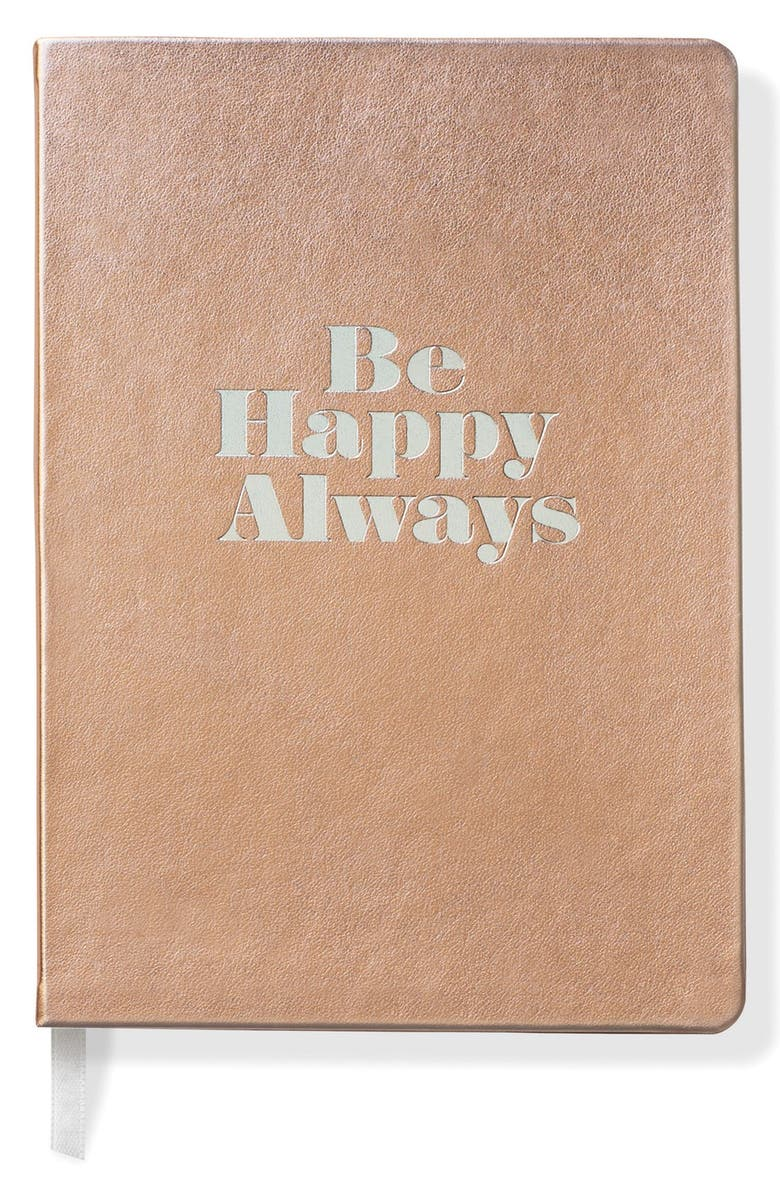 FRINGE STUDIO 'Be Happy Always' Softcover Journal, Main, color, 710