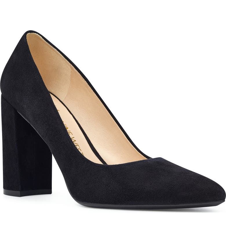 NINE WEST Astoria Pump, Main, color, BLACK SUEDE