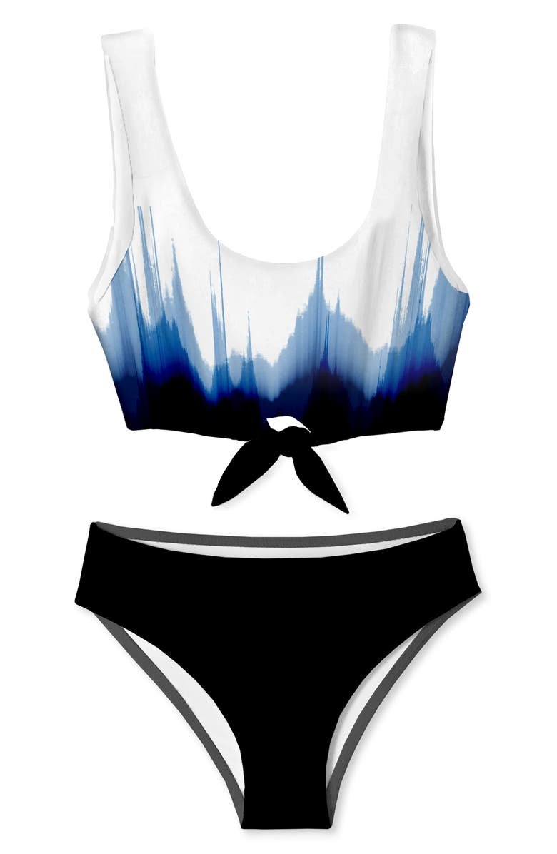STELLA COVE Kids' Print Two-Piece Swimsuit, Main, color, DIPPED