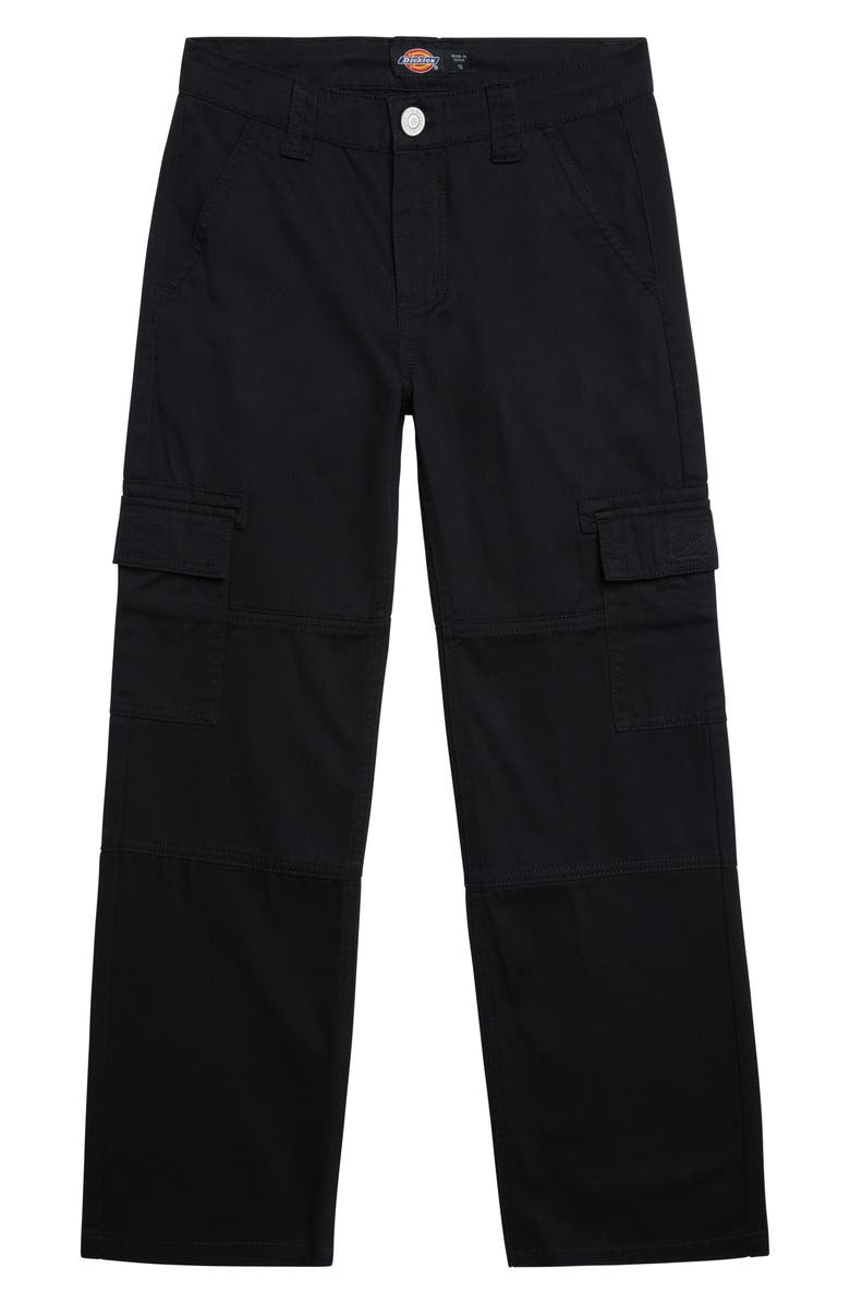 DICKIES Kids' Heritage Cotton Twill Cargo Pants, Main, color, BLACK