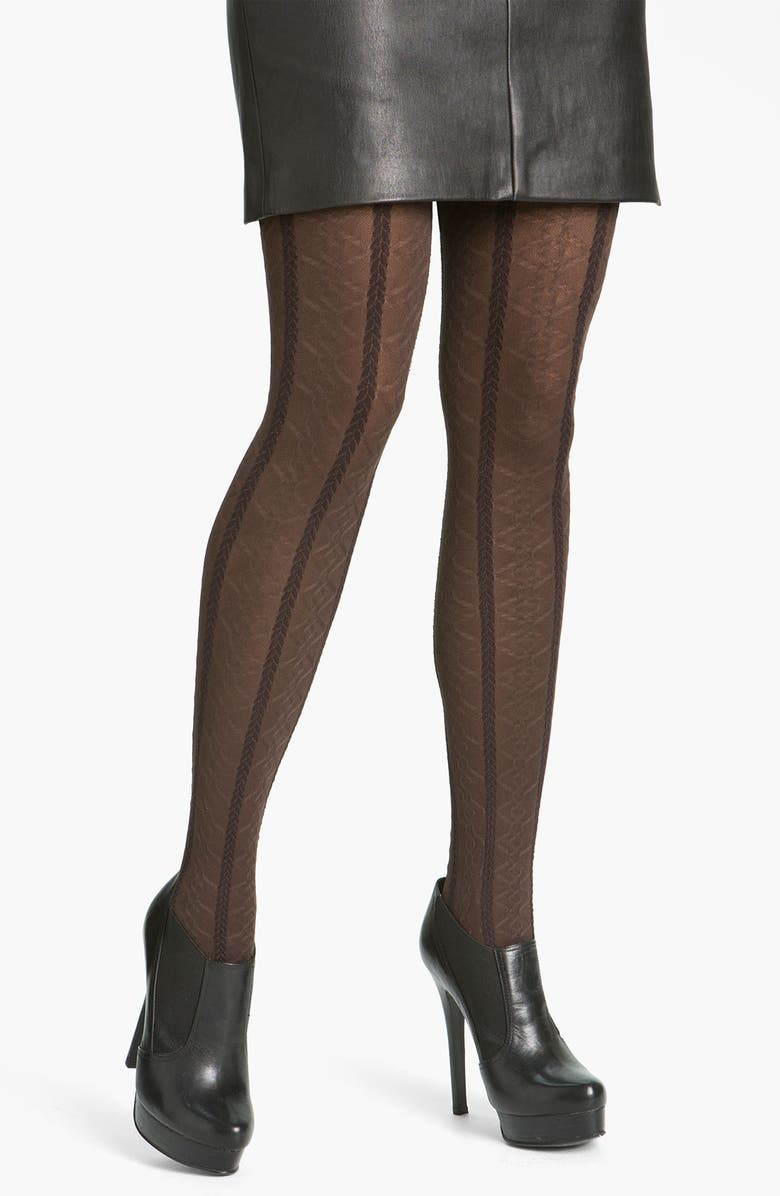 HUE Braided Cable Tights, Main, color, ESPRESSO