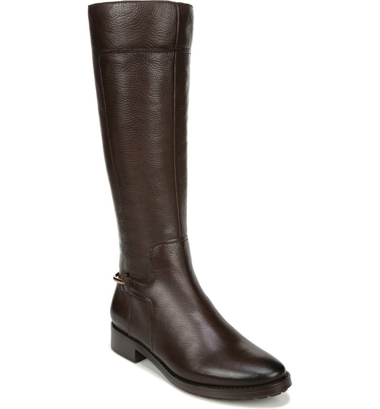 27 EDIT Kalani Knee High Boot, Main, color, FOREST BROWN LEATHER