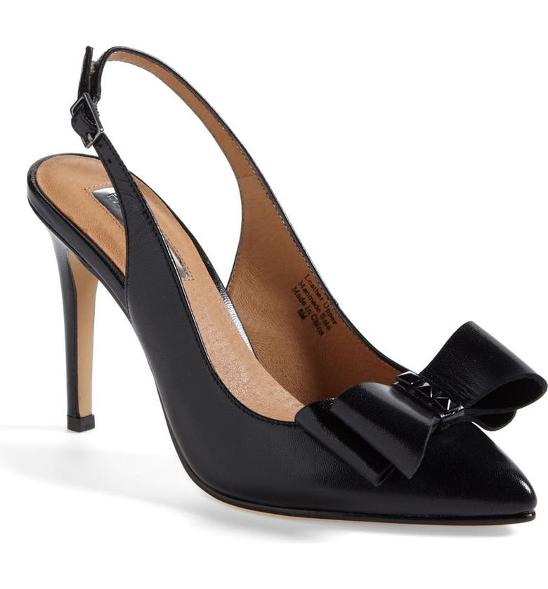HALOGEN<SUP>®</SUP> 'Lila' Studded Bow Pointy Toe Pump, Main, color, 001