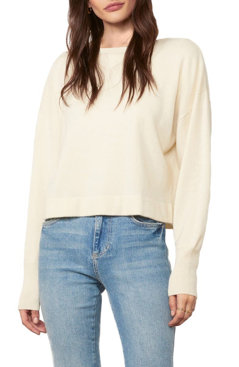 CUPCAKES AND CASHMERE Suzie Wool & Cashmere Crop Sweater, Main, color, IVORY