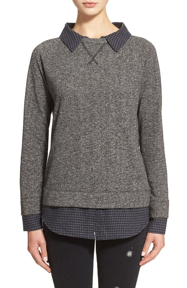 SOFT JOIE 'Diadem' Layered Pullover, Main, color, 070