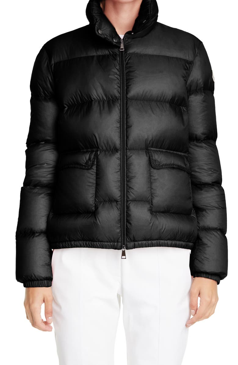 MONCLER Lannic Water Resistant Lightweight Down Puffer Jacket, Main, color, BLACK