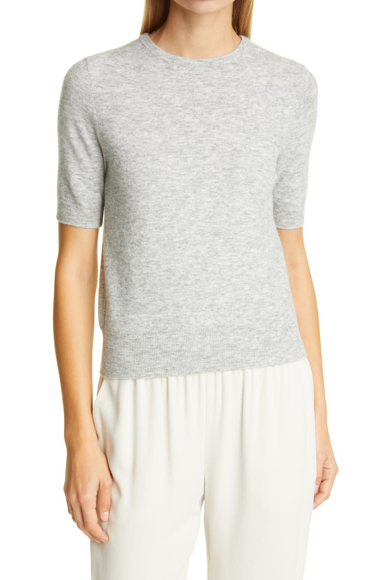 ALLUDE Rib Sweater, Main, color, CARRARA