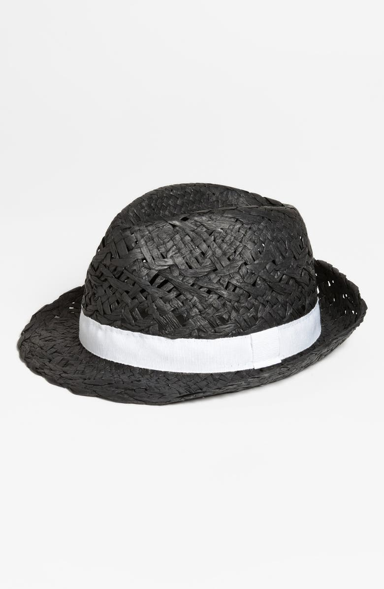 NORDSTROM Straw Fedora, Main, color, 001