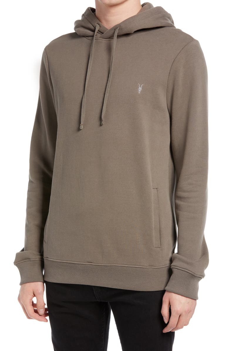 ALLSAINTS Raven Hoodie, Main, color, WASHED KHAKI BROWN