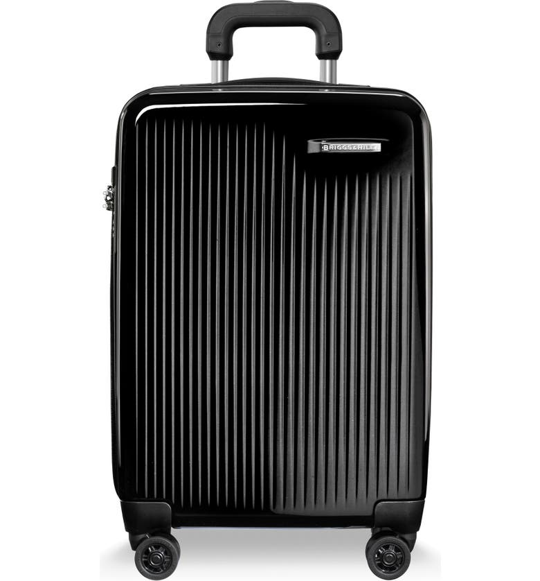 BRIGGS & RILEY 22-Inch Domestic Expandable Spinner Wheeled Suitcase, Main, color, 001