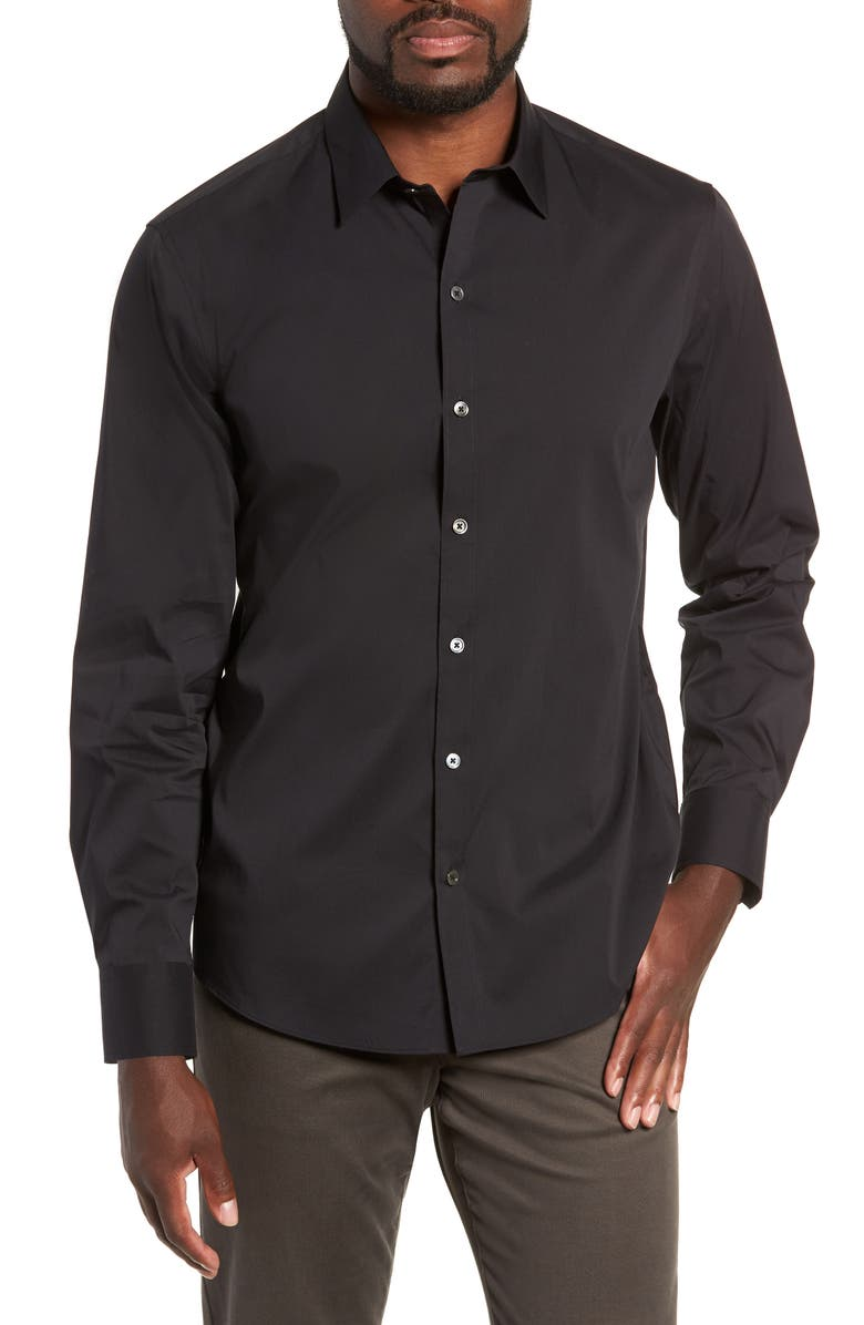 ZACHARY PRELL Mulberry Regular Fit Shirt, Main, color, 001