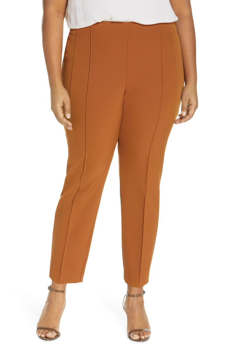 LAFAYETTE 148 NEW YORK Acclaimed Gramercy Stretch Pants, Main, color, CAPPUCCINO