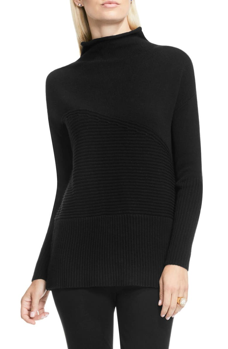 VINCE CAMUTO Rib Knit Turtleneck Sweater, Main, color, 006
