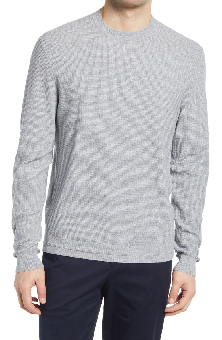 TED BAKER LONDON Staylay Crewneck Sweater, Main, color, GREY MARL