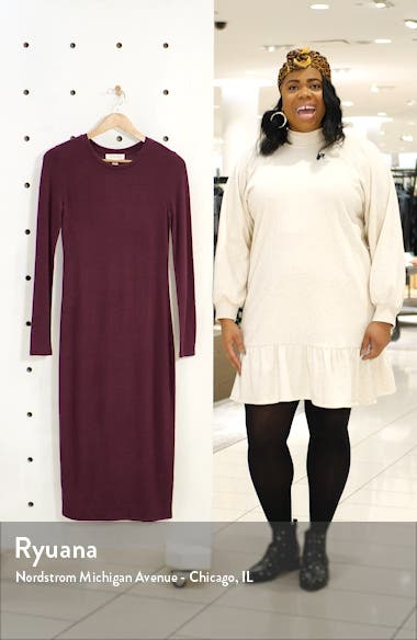 Cozy Long Sleeve Sweater Dress, sales video thumbnail