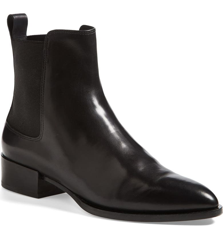 VINCE 'Yarmon' Almond Toe Calfskin Leather Chelsea Boot, Main, color, 002