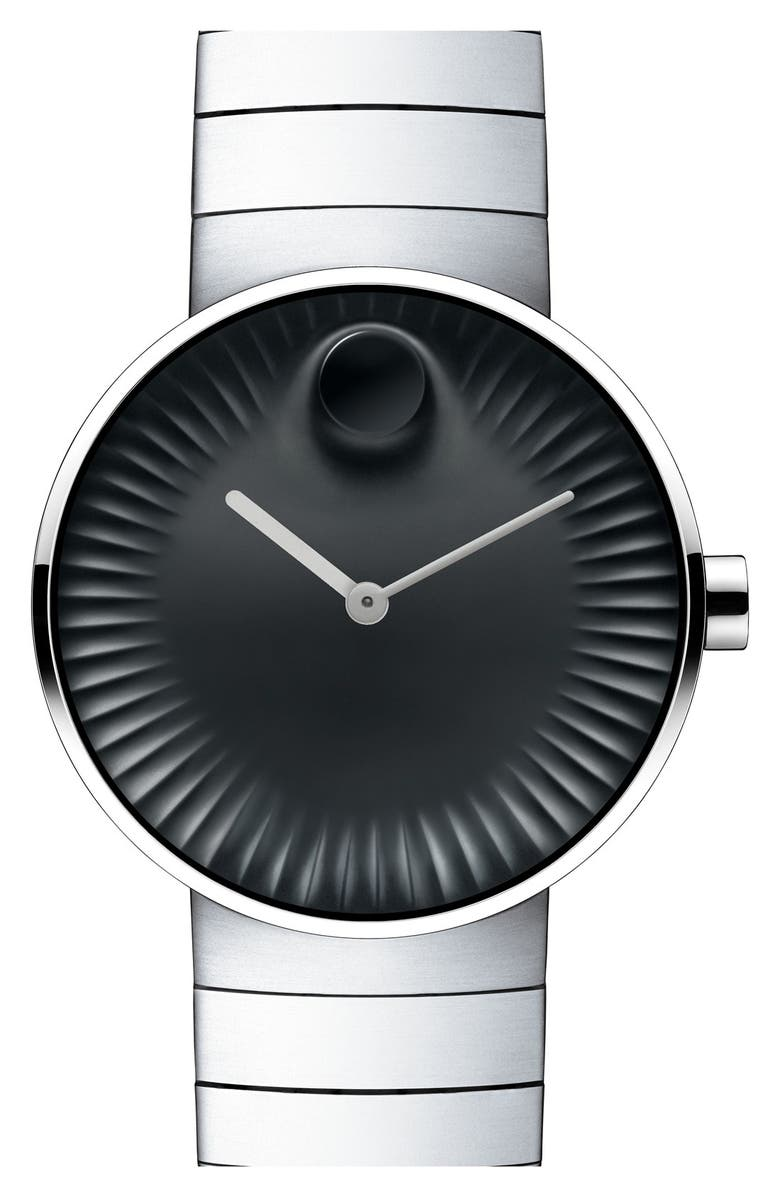 MOVADO 'Edge' Bracelet Watch, 40mm, Main, color, STAINLESS STEEL