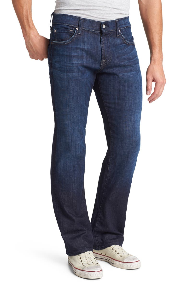 7 FOR ALL MANKIND Austyn Relaxed Straight Leg Jeans, Main, color, LOS ANGELES DARK