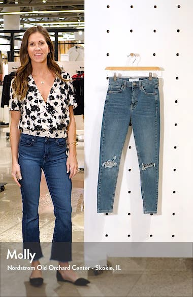 Jamie Ripped High Waist Crop Skinny Jeans, sales video thumbnail