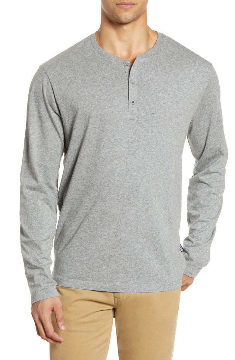 PATAGONIA Organic Cotton Henley, Main, color, FEATHER GREY