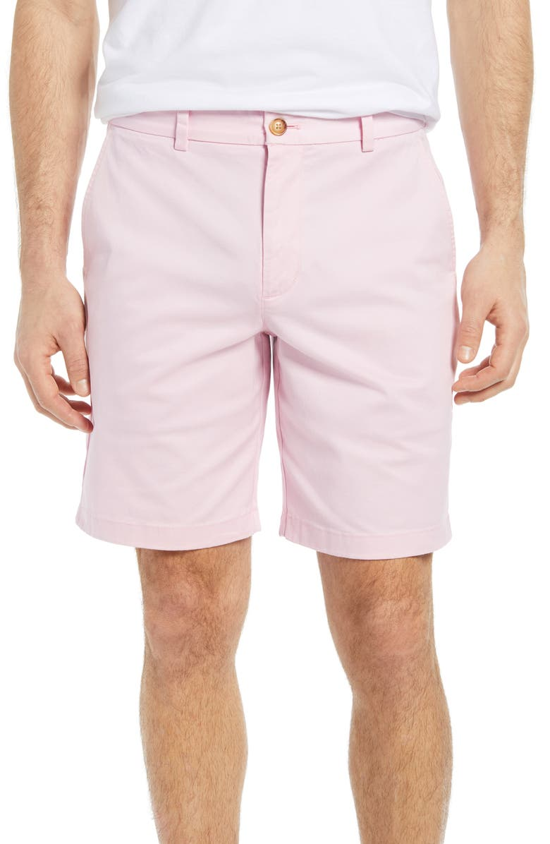 VINEYARD VINES 9 Inch Stretch Breaker Shorts, Main, color, PINK CLOUD