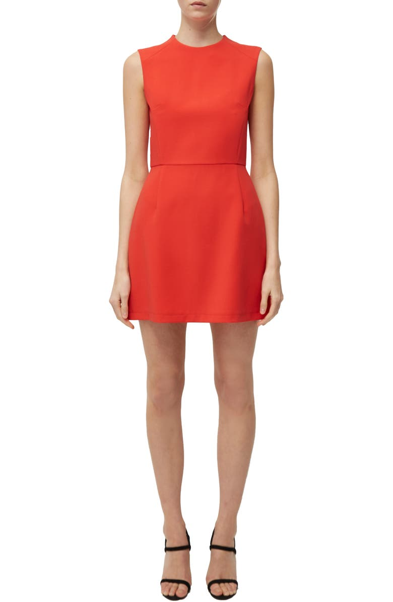 FRENCH CONNECTION 'Sundae'Stretch Minidress, Main, color, FIRE CORAL