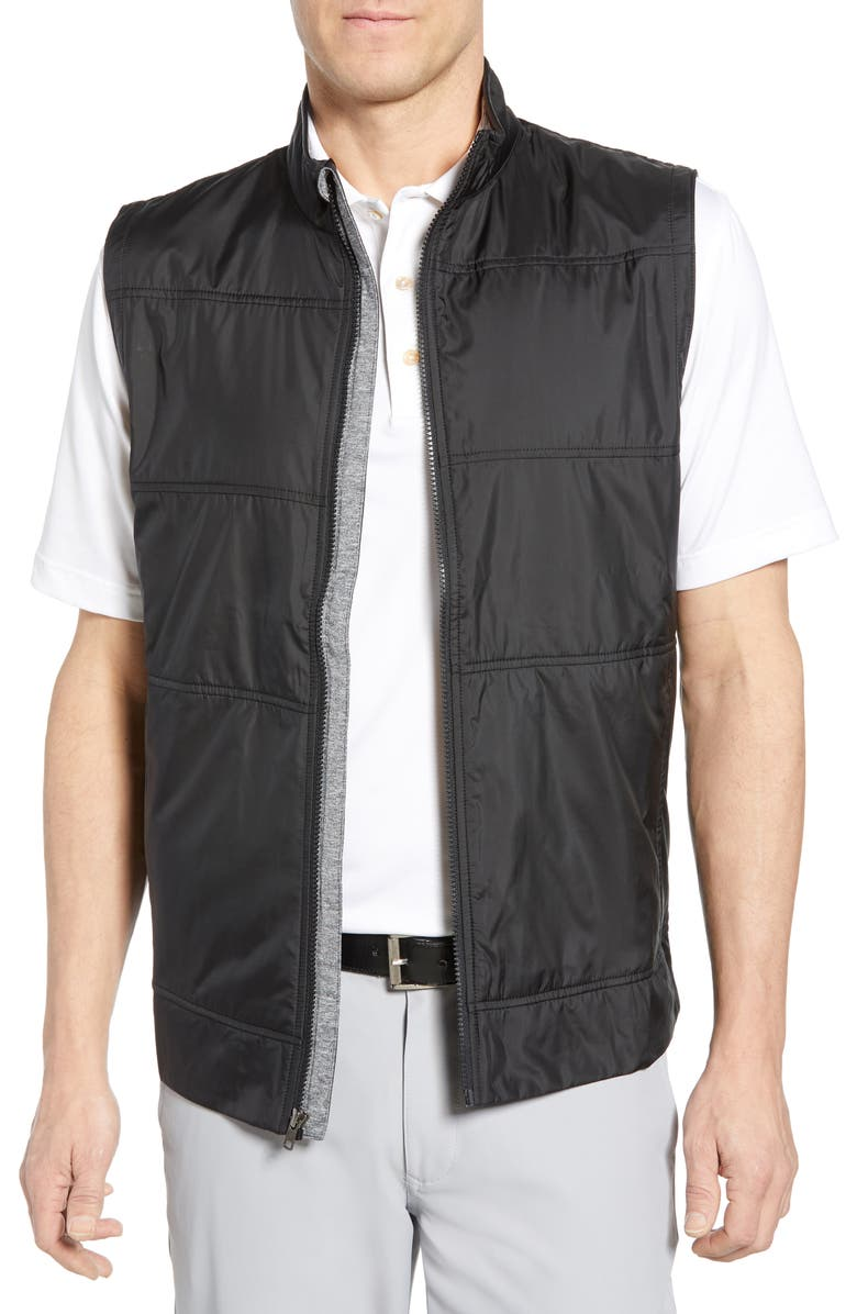 CUTTER & BUCK Stealth Quilted Vest, Main, color, BLACK