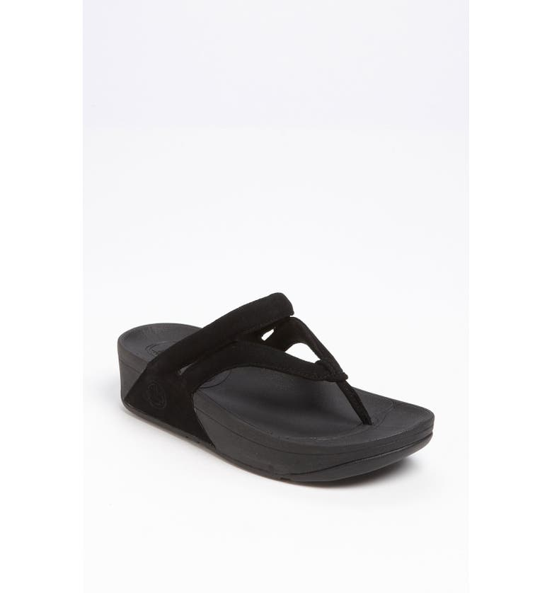 FITFLOP 'Whirl<sup>™</sup>' Suede Sandal, Main, color, 001