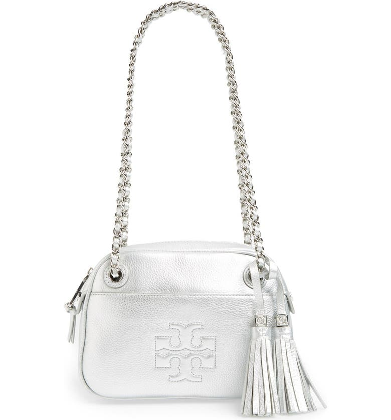 TORY BURCH 'Thea' Leather Crossbody Bag, Main, color, 040
