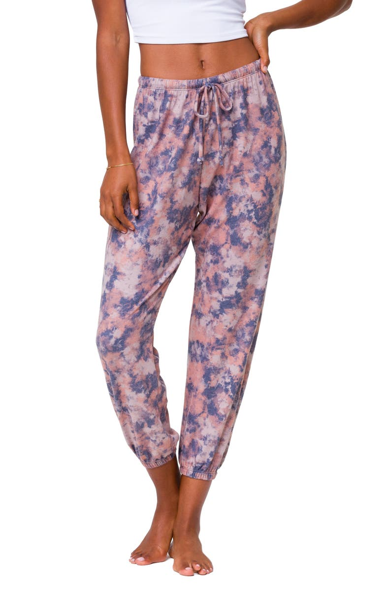 ONZIE Weekend Sweatpants, Main, color, EARTH TIE DYE